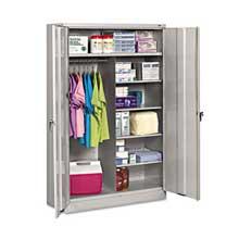 Tennsco Jumbo Combination Steel Storage Cabinet 48w x 24d x 78h Light Gray