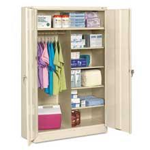 Tennsco Jumbo Combination Steel Storage Cabinet 48w x 24d x 78h Putty
