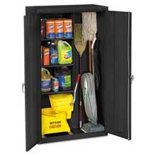 Tennsco Janitorial Cabinet 36w x 18d x 64h Black