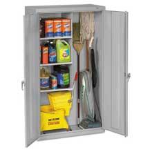 Tennsco Janitorial Cabinet 36w x 18d x 64h Light Gray