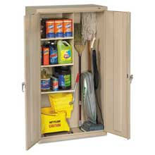 Tennsco Janitorial Cabinet 36w x 18d x 64h Putty