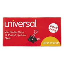 universal mini binder clips steel wire 14 inch capacity 12 inch wide blacksilver 144pack