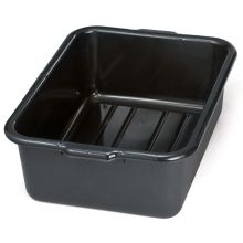 Tablecraft Economical High Density Polyethylene Black Recycled Tote Box 5 inch
