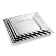 Tablecraft Remington Collection 18-8 Stainless Steel Square Buffet Service Tray 20 inch