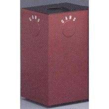 Witt Industries Steel Geo Cube Recycling Waste Container Round Opening 15 x 15 x 28 inch