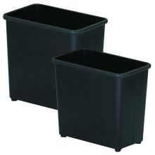 Witt Industries Black Steel Standard Rectangular Waste Basket 9 x 16 x 15 inch