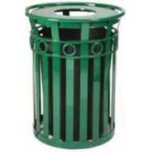 Witt Industries Steel Oakley Decorative Slatted Waste Receptacle with Ash Urn Lid 28 x 44.25 inch