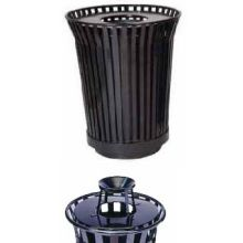 Witt Industries Steel Round Trash Receptacle with Ash Urn Top 29 x 42.25 inch