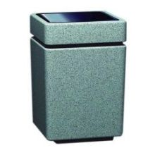 Witt Industries Poly Lite Crete Square Top Load Trash Receptacle 24 x 24 x 36 inch