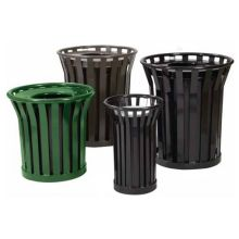 Witt Industries Wydman Steel Trash Receptacle with Rain Cap Top 28.5 x 39.75 inch