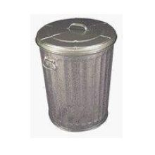 Witt Industries Commercial Duty Galvanized Steel Trash Can with Lid 17.5 x 25.5 inch