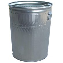 Witt Industries Medium Duty Galvanized Steel Trash Can 21.25 x 26.25 inch