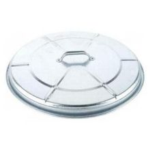 Witt Industries Medium Duty Galvanized Steel Trash Lid Only 21.5 x 4 inch