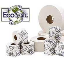Wausau Paper EcoSoft 2 Ply Jumbo Roll Bath Tissue - 3.875 inch 1000 per Tissue