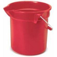 Red Rubbermaid Brute Bucket Round 10 1/2in.Dia. X 10 1/4in.H 10 U.S. Qt.