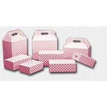 Specialty Red Plaid Chicken Take Out Barn Box 8 x 5 x 8 inch