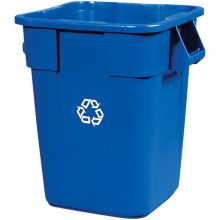 Square Brute Recycling Container With We Recycle Symbol Without Lid