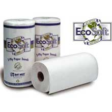 Wausau Paper EcoSoft 2 Ply Bleach White Kitchen Roll Towel - Household 11 x 9 inch