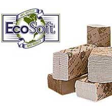 Wausau Paper EcoSoft Natural Multifold Towel 9 x 9.5 inch