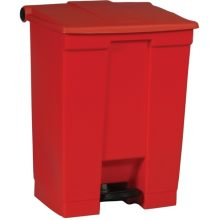 Step-On Container - Red 18 U.S. Gal For Hands-Free Sanitary Waste Management