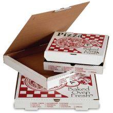 Timbar Premium Corrugated B Printed Pizza Box 7 x 7 x 2 inch