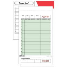 Two Part Yellow Guest Check Book