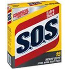 S.O.S Steel Wool Soap Pad 15 Per Pack