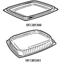 Plastic Clear Snap-On Lid For Showcase Deli Containers. Fits 8 12 And 16 Oz. Containers.