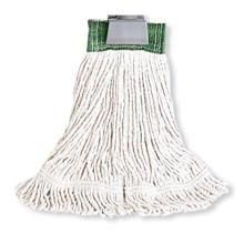 Super Stitch Cotton Looped End Wet Mop - White Medium Mop Size 1 Inch Headband