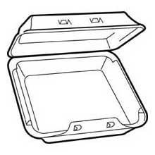 Pactiv Smartlock Medium Single Compartment Container