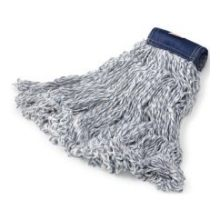 Super Stitch Finish Mop - Medium 4-Ply Polyester And Rayon Yarn 5 Inch Blue Headband
