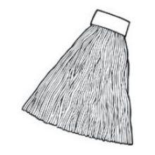 Green - Mop Synthetic Blend Mop - Headband Size 5 Inch Mop Size Medium