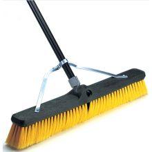 Brace Broom Medium Duty Multi Surface Synthetic Swivel Cap Metal Tip