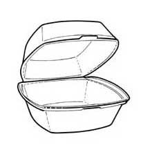 Pactiv Small Square Sandwich Container