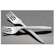 White Medium Weight Polypropylene Fork