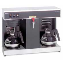 Black Low Profile Automatic Coffee Brewer with 2 Warmers