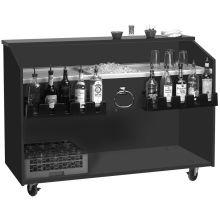 Advance Tabco Bar King Marquis Mica Finish Black Portable Bar 5 Feet