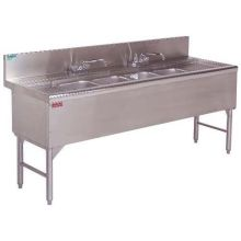 Advance Tabco Prestige 24 inch Series NSF Bar Sink 3 Compartment 4 feet