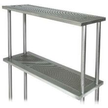 Advance Tabco Stainless Steel Double Over Shelf Only 15 x 44 inch