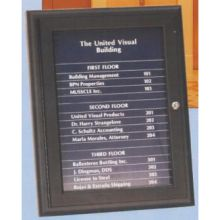 Bronze Anodized United Visual Magnetic Header and 32 Strip Directory Board 36 x 24 inch Namestrip Black