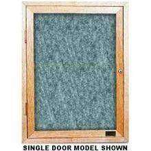 Wood Enclosed Easy Tack Light Oak Board with 1 Door Size 24 inch X 36 inch