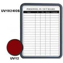 Frame Color - Grey Image In/Out Board with Dry Erase Magnetic Surface Size 18 x 24 x 1 inch