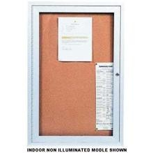 Indoor Enclosed Bulletin Corkboard with One Door Size 24 inch X 36 inch