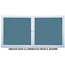 Indoor Enclosed Bulletin Corkboard with Two Doors Size 72 inch X 36 inch