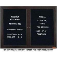 Outdoor Enclosed Bronze Framed Letterboard Header and 1 Door 3/4 in Helvetica letter and number set included 18 in X 24 in