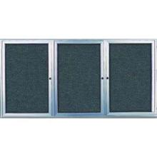 Radius Framed Indoor Enclosed Easy Tack Board with 3 Door Size 96 inch X 48 inch