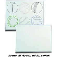 Aluminum Framed Porcelain On Steel Dry Erase Board. Size 48 inch X 36 inch x3/8 inch