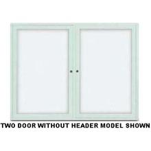 Enclosed Dry Erase Radius Frame Board with 2 Door. Size 60 inch X 36 inch