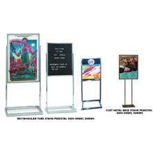flat metal base stand pedestal sign with poster frame size 22 x 28 inch. Black Bedroom Furniture Sets. Home Design Ideas