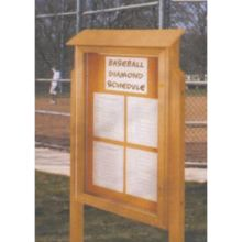 United Visual Cork Outdoor Message Center 26 x 42 inch